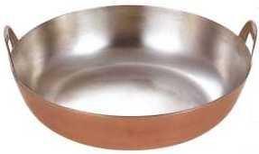 若林工業 銅製 厚板揚げ鍋 (板厚3.0mm) 33cm