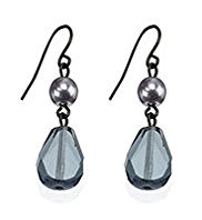 M&S Collection Glass Bead Double Drop Earrings