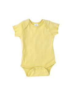 Rabbit Skins Infant Baby Rib Lap Shoulder Bodysuit-24MOS (Banana)