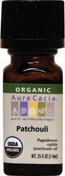 Aura Cacia - Patchouli Dark Organic Essential Oil, .25 fl oz oil