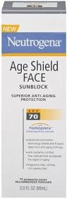 Neutrogena Age Shield Face Sunblock Spf 70 - 3 oz.