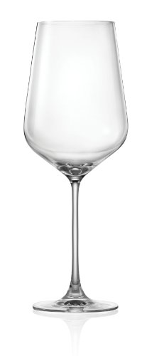Lucaris Hong Kong Hip Bordeaux Wine Glass, 26-Ounce, Set of 4
