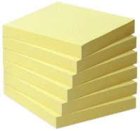 post-it-note-recyclee-76-x-76-mm-tour-de-6-blocs-jaune-pastel
