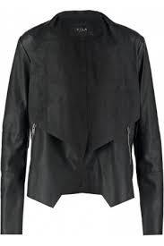 Vila - Giacca drappeggiate nero Viezra Taglia XL UK 16 EUR 44 USA 12