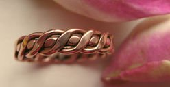 Solid Copper Ring CR015 Size 6