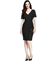 M&S Collection Drop a Dress Size Sequin Panelled Dress with Secret Support™