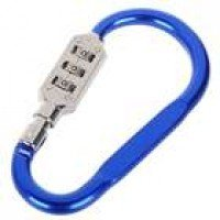 3-Digit Compact Carabiner Clip Padlock - Mid (Color Assorted)