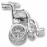 Rembrandt Charms Wheelchair Charm - Sterling Silver