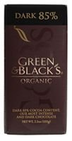 Green & Blacks Dark Chocolate 85% Cocoa (10x3.5oz)