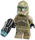 LEGO Star Wars LOOSE Minifigure Kashyyyk Clone Trooper with Firing Blaster - 1