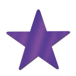 Foil Star Cutout (purple) Party Accessory  (1 count)