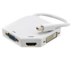 VoojoStore Mini DisplayPort to HDMI, VGA or DVI, 3-IN-1 Adapter