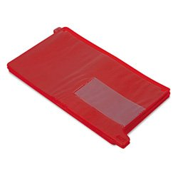 Vinyl End Tab Outguides with Two Pockets, Legal Size, Red, 25/Box (SMD63950)