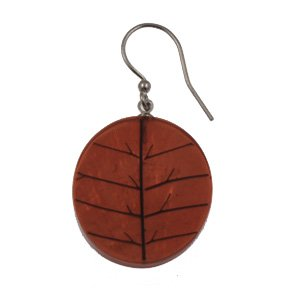 Origin Jewelry Orange Leaf Resin Earring