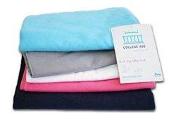 "Quick-Dry Towel Black Bath Sheet 40"" x 70"""