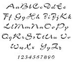 Airfoil Script Alphabet Stencil - 48 inch - 10 mil medium-duty