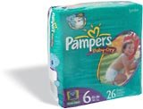 Pampers Baby Dry Diapers Jumbo Pack, Size 6, 104 Count