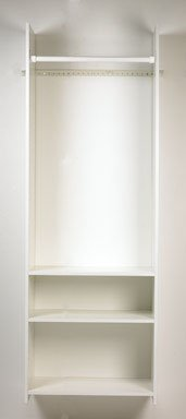 Easy Track RV1472 Closet Hanging Tower Closet Organizer Kit, White, 72-Inch
