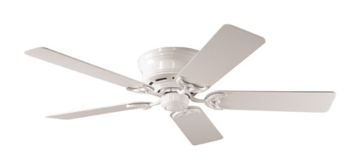 Hunter 20803 Low Profile III 52-Inch 5-Blades Ceiling Fan, White