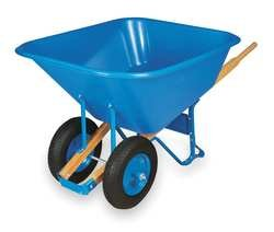 Westward 2MVU8 Wheelbarrow, Cap 10 Cu-Ft, Poly-Resin (Wheelbarrow 10 Cubic Feet compare prices)