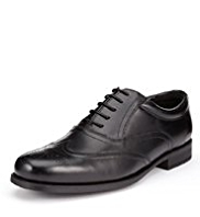 Leather Wide Fit Lace Up Brogue Shoes