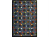"Joy Carpets Playful Patterns Children's Spot On Area Rug, Licorice, 3'10"" x 5'4"""