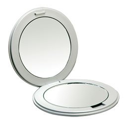 Kimball & Young First Impressions 10X Double Mirror Compact - Silver/Black (Catalog Category: General Merchandise / Grooming Accessories) front-537513