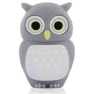 4GB Baby Owl DARK GREY USB 2.0 High Speed Silicon Flash Memory Drive Disk Stick Pen Support Windows and MacOS Great Gift from EASYWORLD