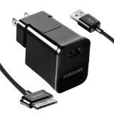 Samsung ETA-P10JBEGSTA Galaxy Tab Detachable Multi Travel Charger With USB To 30 Pin Data Cable - Black