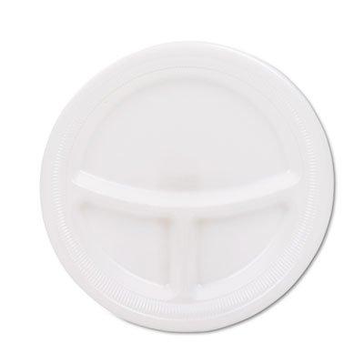 """Mediumweight Foam Plates, 9"""" diameter, White"""