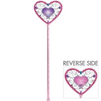 "Amscan Disney Princess Birthday Celebration Party Boutique Plastic Star Wand, 6 5/8"" x 1 5/8"", Pink/Purple"