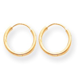 Genuine IceCarats Designer Jewelry Gift 14K Endless Hoop Earrings