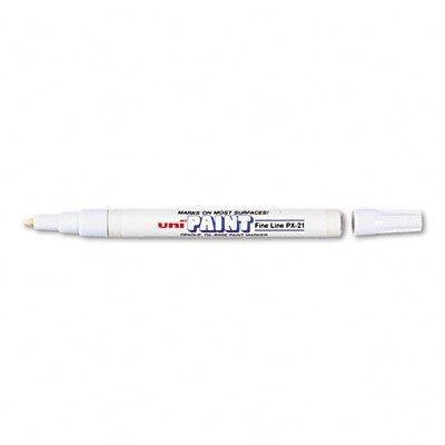 uni-paint-px-21-oil-based-paint-marker-fine-point-white-1-count