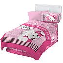 """Hello Kitty """"Sweet And Sassy"""" Twin Comforter And Sheet Set """"Bed In A Bag"""" front-606170"""