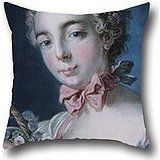 the-oil-painting-louis-marin-bonnet-french-head-of-flora-cushion-cases-of-16-x-16-inches-40-by-40-cm