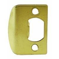 Kwikset Corporation 3437-01 3 Strk Sq Cnr Full Lip Square Corner Strike In Polished Brass front-652098