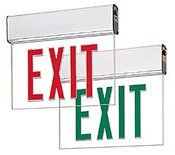Led Exit Sign With Battery Backup Edge-Lit Surface Mount