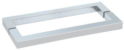 "Crl Polished Chrome ""Sq"" Style 24"" Back-To-Back Towel Bar front-541897"