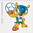 FIFA 2014 World Cup Brasil Mascot 4x4 Die Cut Decal