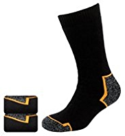 2 Pairs of Cushioned Socks with Silver Technology