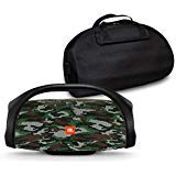 JBL Boombox Portable Bluetooth Waterproof Speaker Bundle with Hardshell Storage Case - Camouflage (Color: Camouflage)