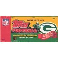 2005 Topps NFL Football Cards 50th Anniversary Celebration Complete Set Green Bay Packers Edition