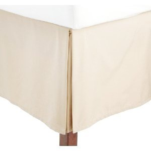 450Tc Egyptian Cotton Solid Ivory King Size Pleated Tailored Bed Skirt With 15 Inches Drop And Split Corners