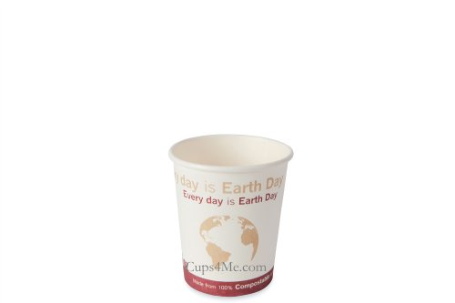 6Oz. Compostable Pla Hot Paper Cup/1000 Ct.