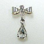 Jewelry Nail プリティネイル チャーミングリボンー2 シズク シルバー PNー0304R