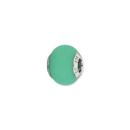 Celadon Matte Murano Glass Charm