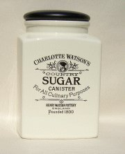 Charlotte Watson Large Square Sugar Jar