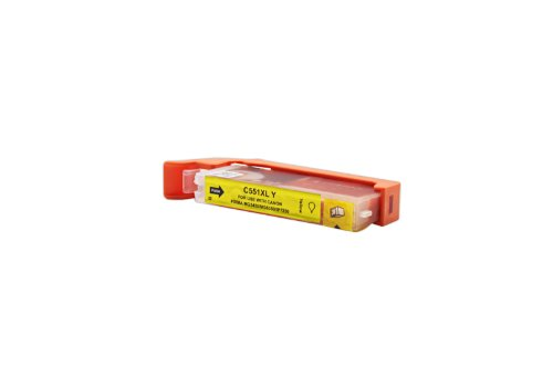 Officehandel Tinte (Gelb, Inhalt 12 ml) ersetzt Canon 6446B001 / CLI-551YXL für Canon Pixma IP 7250, MG 5450, MG 6350, MX 725, MX 925