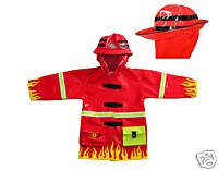 Kidorable Raincoat (Large 116-122cm 5-6 years, Fireman)