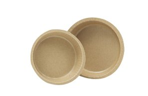 "Solut 91088 Kraft Paper Smooth Wall Round Baking Cup With Flange, 5.34"" Diameter X 1.19"" Depth, Natural, 10-Ounce Capacity (Case Of 500)"
